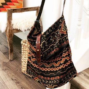 Boho earth carpet bag